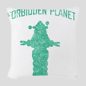 Vintage Forbidden Planet Robot Woven Throw Pillow