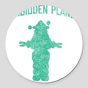 Vintage Forbidden Planet Robot Round Car Magnet