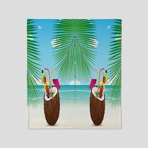 Coconut Beach Throw Blanket