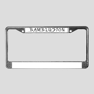bam white License Plate Frame