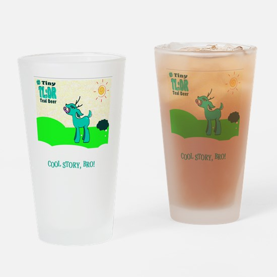 My Tiny Teal Deer Drinking Glass
