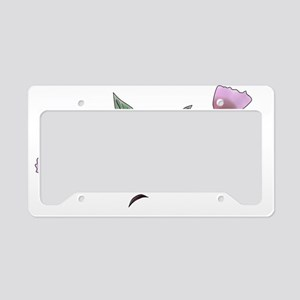 Cherry Blossoms License Plate Holder