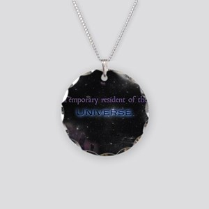 Temporary Resident Necklace Circle Charm