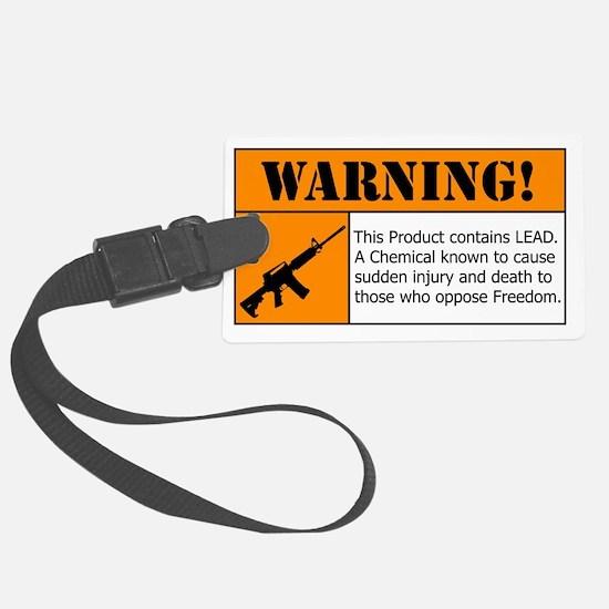 AR-15 Lead Warning Luggage Tag