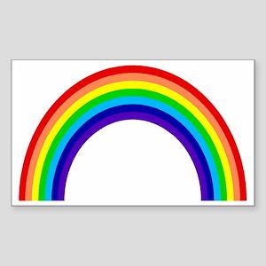 rainbow Sticker (Rectangle)