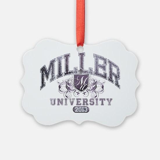 Miller Last Name University Class Ornament