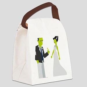 Frankenstein & Bride Canvas Lunch Bag