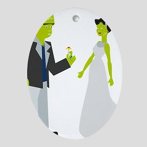 Frankenstein & Bride Oval Ornament