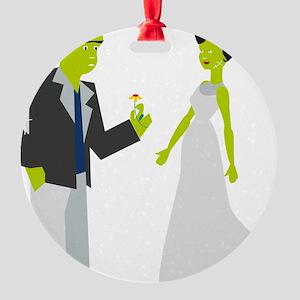 Frankenstein & Bride Round Ornament