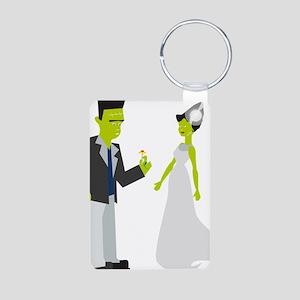 Frankenstein & Bride Aluminum Photo Keychain