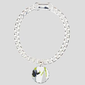 Frankenstein & Bride Charm Bracelet, One Charm