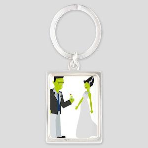 Frankenstein & Bride Portrait Keychain