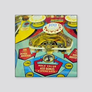 "Pinball Wizard Square Sticker 3"" x 3"""