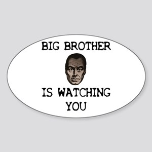 BIG BROTHER IS WATCHING YOU Oval Sticker