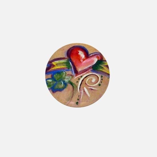 Heart Banner Mini Button