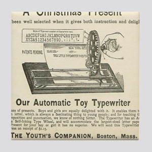 toy typewriter ad Tile Coaster