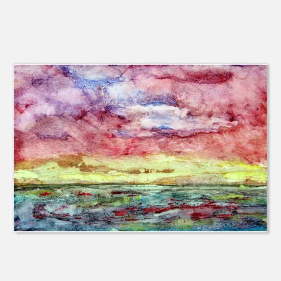 Sunset Watercolor, Lands End  Postcards (Package o