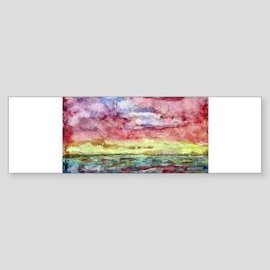 Sunset Watercolor, Lands End Bumper Sticker