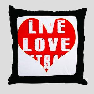 Live Love Netball Designs Throw Pillow