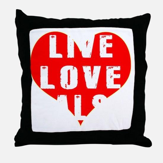 Live Love Salsa Designs Throw Pillow