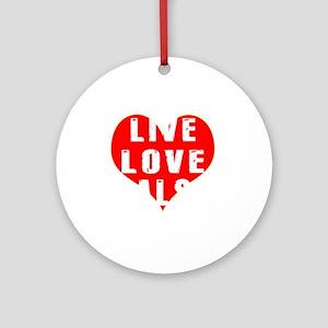 Live Love Salsa Designs Round Ornament