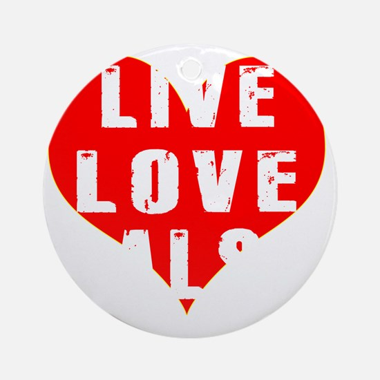 Live Love Salsa Designs Round Ornament