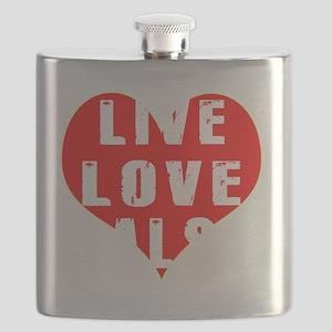 Live Love Salsa Designs Flask