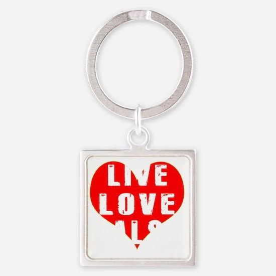 Live Love Salsa Designs Square Keychain