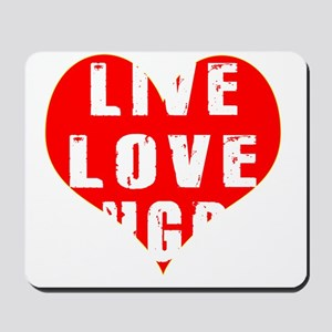 Live Love Rugby Designs Mousepad