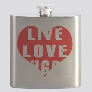 Live Love Rugby Designs Flask