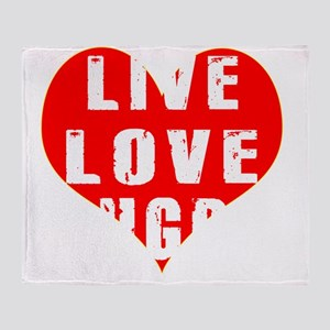 Live Love Rugby Designs Throw Blanket