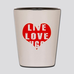 Live Love Rugby Designs Shot Glass