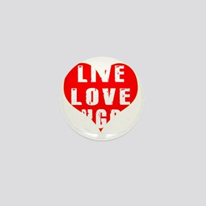 Live Love Rugby Designs Mini Button