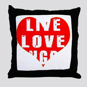 Live Love Rugby Designs Throw Pillow
