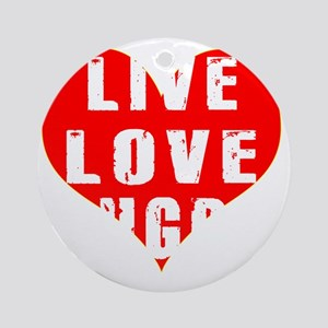 Live Love Rugby Designs Round Ornament