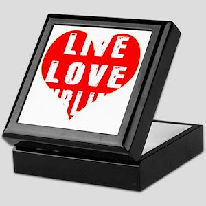 Live Love Curling Designs Keepsake Box