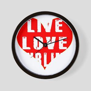 Live Love Curling Designs Wall Clock