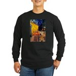 Cafe - Airedale (S) Long Sleeve Dark T-Shirt