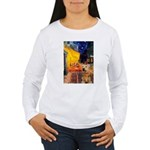 Cafe - Airedale (S) Women's Long Sleeve T-Shirt
