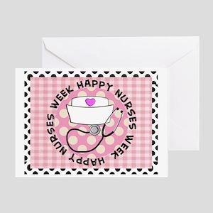 happy nurses week card pink Greeting Card