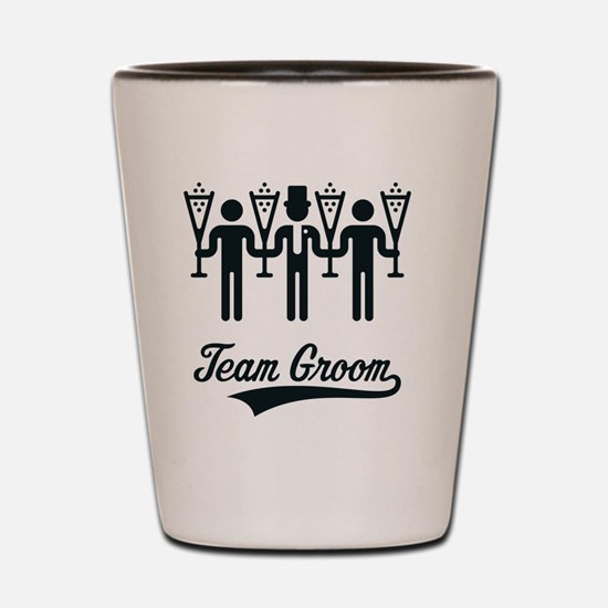 Team Groom (Bachelor Party / Stag Night Shot Glass