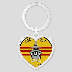 Tonkin Gulf F-4 Club Heart Keychain