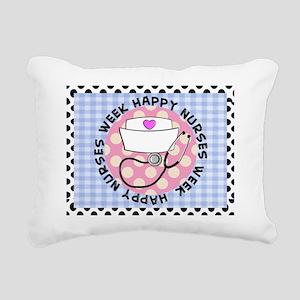 happy nurses week card b Rectangular Canvas Pillow