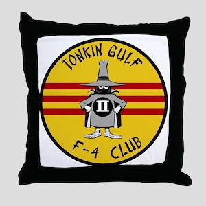 Tonkin Gulf F-4 Club Throw Pillow