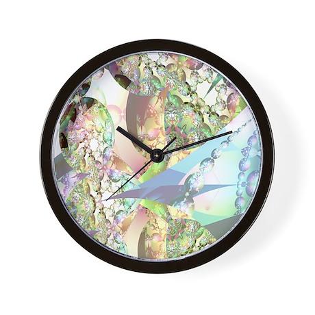 Wings of Angels Amethyst Crystals Wall Clock