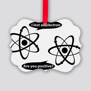 I lost and electron. Are you posi Picture Ornament