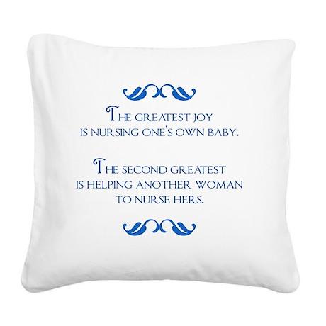 2-joy Square Canvas Pillow