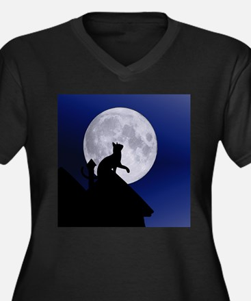 Moon Cat Plus Size T-Shirt