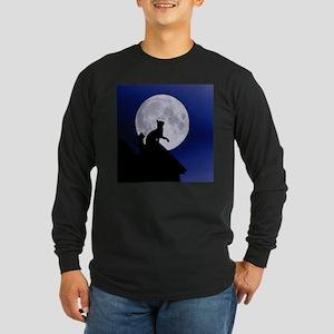 Moon Cat Long Sleeve T-Shirt