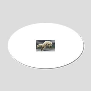 Arctic Fox 20x12 Oval Wall Decal